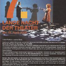 7. Lange Nacht der Theater // Medea-Landschaft mit Argonauten und Vom Enden der Dinge (2008)