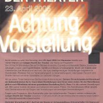 4. Lange Nacht der Theater // Die Rückkehr des Blade Runner (2005)