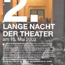 2. Lange Nacht der Theater // My funny Valentine / Chet Baker Song (2003)
